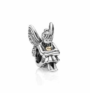 Genuine  Retired Pandora Charm Pixie Sterling Silver 92514K Gold #791206