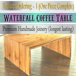 Elegant Design Custom Craftsman Made to Order Waterfall Drop Down Coffee Table