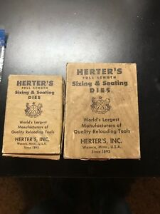 Herters & RCBS Reloading Dies In .38 Special .300 9mm And .44 Special