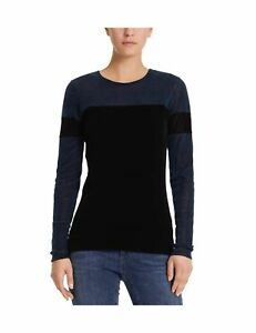 MARC CAIN SPORTS Women's Longsleeve T - Shirt Blue (Midnight Blue 395) 14