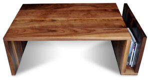 Pacific North Western Walnut Sleek Modern Design Coffee Table Handmade To Order