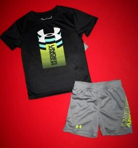 NWT ~~BOY'S UNDER ARMOUR SHORTS & TOP...SIZE 23 TODDLER..DRI-FITSTAYS COOL~~