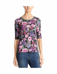 MARC CAIN SPORTS Women's T-Shirt Mehrfarbig (Alpine Rose 262)