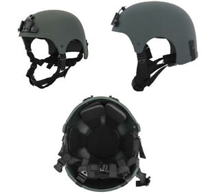 Lancer Tactical IBH Style Airsoft Military Simulation Helmet in OD Green CA-331G