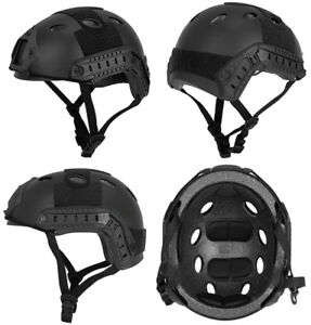Lancer Tactical Basic Version PJ Type Airsoft Military Simulation Helmet Black