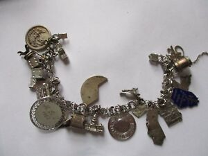 JMS Sterling Silver Charm Bracelet with Charms