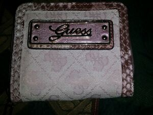 Woman's Guess^ compact id. wallet leather&canvas..Pink♡♡♡