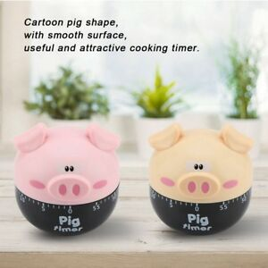 Mechanical Timer Kitchen Cooking Countdown Loud Clock 1-55 Minutes Pig Shaped