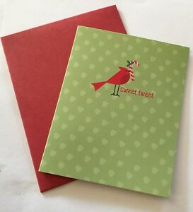The Gift Wrap Company Holiday Sweet Tweet Greeting Cards 16 Per Pack New $3.00