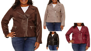 A.N.A. Womens Plus Size 2X Motorcycle Jacket Faux Leather NWT Retail $150.00