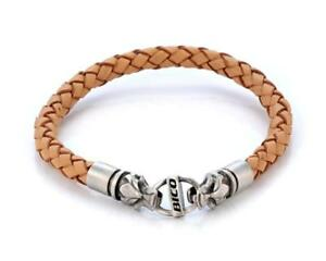Bico 6mm (0.24 inch) Brown Braided Leather Bracelet (CA15 Brown) Tribal...