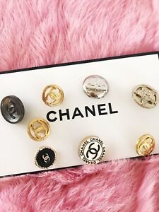 Chanel Mixed Set CC Logo Button Jewelry Sewing Lot Of 8 Replacement Jacket Coat