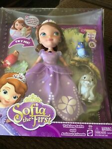 Mattel Disney's ~ Sofia The First ~ Talking Sofia & Animal Friends ~ Brand NEW