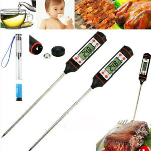 2X Instant Read Digital Grill Kitchen Meat Thermometer Probe BBQ Oven Food Cook