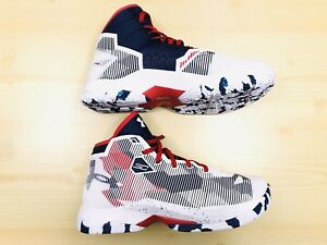 New UNDER ARMOUR Curry 2.5 GS Boys Youth 7Y Red White And Blue 1274062-107