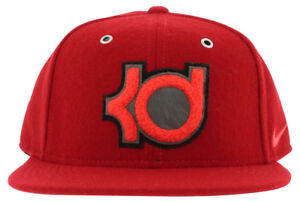 Nike Mens True Kevin Durant Wool Strapback Cap Red One Size