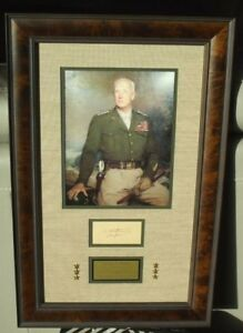 General George Patton WWII U.S Army Commander Autograph Display PSADNA Authentic