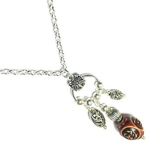 Chinese Tibetan Silver Style Chandelier Pendant Chain Choker Necklace 16