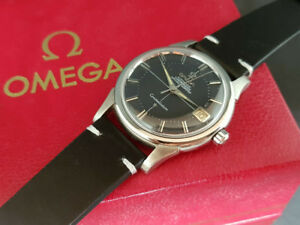 VINTAGE 1961 OMEGA CONSTELLATIOIN CROSSHAIR BLACK DIAL CAL:561 AUTO MAN'S WATCH