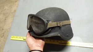 Used Military Army PASGT Helmet S or Small plus Goggles Free US Shipping