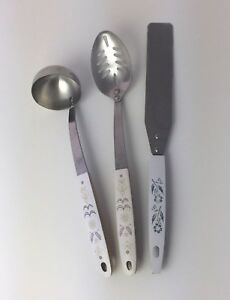 Set Flint Arrowhead Stainless Steel Slotted Spoon, Small Ladle, Frosting Knife