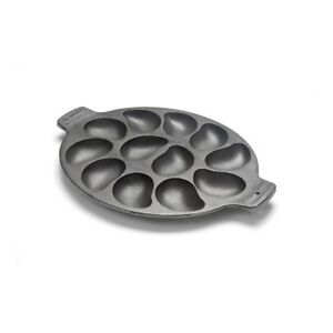 Oyster Grill Pan Non-Stick Surface Cast Iron Drop Biscuits Mini Corn Bread Cook