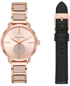 Michael Kors MK2776 Portia Rose Gold-Tone Bracelet Watch 36mm Gift Set