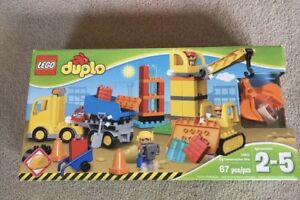 LEGO DUPLO Town Big Construction Site 10813 Toy for Toddlers Large