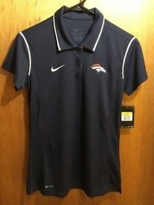 W'S NWT $85 NIKE DRI-FIT NFL DENVER BRONCOS POLO SHIRT SIZE SMALL STY:476325-420