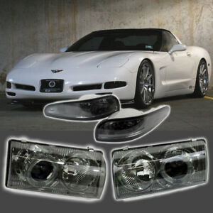 Fits For 1997 2004 Chevy Corvette Headlights Smoke And Bumper Lights Kit