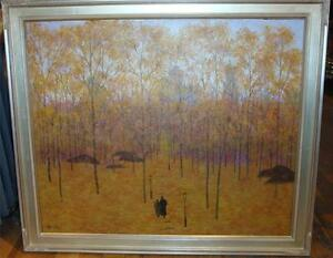 RARE ORIGINAL CENTRAL PARK IN AUTUMN NEW YORK PAINTING PATRICK ANTONELLE