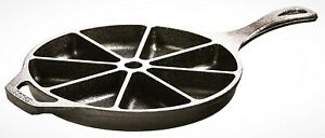 Cast Iron Wedge Pan For Bakings Crispy Cornbread Durable Kitchens Cookings Tools