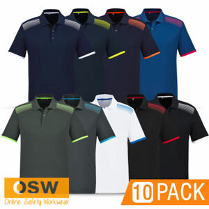 10 X MENS LADIES SPORTS GALAXY COOL BREATHABLE OFFICE CASUAL VENTED POLO SHIRTS