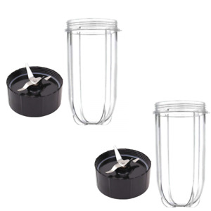 (2) 16oz Cup and Replacement Blade for Magic Bullet Blender (2, Cup