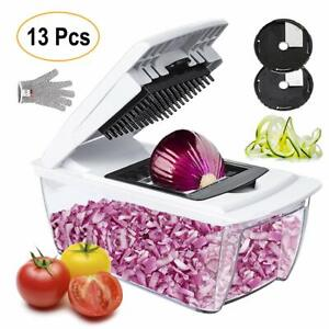 Collupsa Onion Chopper Pro Mandoline Slicer Dicer 13 in 1 Adjustable Food Grater