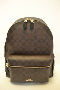 $395 NWT COACH SIGNATURE LARGE  CHARLIE BACKPACK BROWNBLACK
