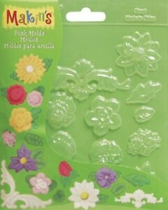 Makin's USA Push Clay Molds Floral
