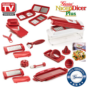 Nicer Dicer Plus by Genius 18 pieces  Fruit vegetable slicer  Food-Chopper PRO
