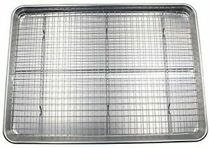 Checkered Chef Baking Sheet and Rack Set - Aluminum Cookie SheetHalf Sheet P...