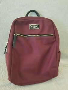 Kate Spade Red Small Backpack Purse Travel Laptop Book Bag