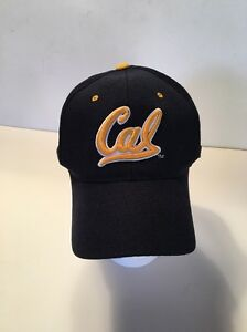 Trucker Hat Authentic Cal Royal blue with Gold lettering Fitted Hat 7 14