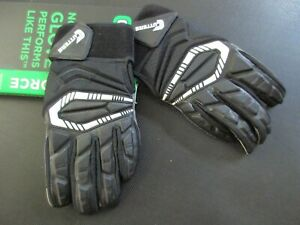 New Cutters S930 The Force Lineman Black Adult L Football Gloves Full Fingers