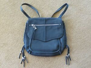 Sanctuary Black Leather Backpack Style Purse NWT