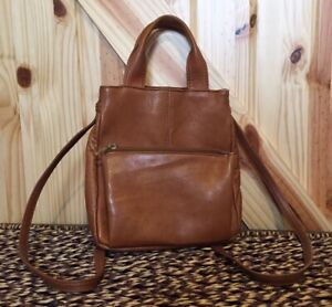 Hobo International Brown Leather Backpack Bag Purse