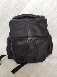 Wilson Leather Backpack Purse Handbag Black