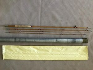 H. L. Leonard  7 12 ft 3 piece bamboo fly rod circa 1960's ex condition 5 Wt.
