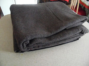 Vintage US Military FCDA Stamped 4lb Wool Blanket Never Used Camping Outdoors