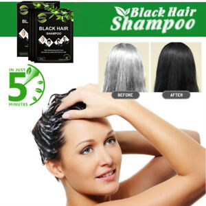 10 Pcs Sevich Fast Hair Shampoo Only 5 Minutes White Become Black Hair Color