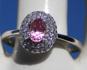 Pink Spinel .58ctGold PlatedSolid Sterling Silver Cocktail RingNaturalOval