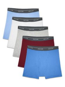 FRUIT OF THE LOOM BOXER BRIEFS BOY 12 PK IN FAMOUS BRAND BAG $19.99